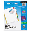 Avery Big Tab Write-On Dividers w/Erasable Laminated Tabs, Clear, Set of 8