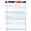 TOPS American Pride Writing Pad, Lgl Rule, 8-1/2 x 11-3/4, White, 50-Sheet 12/Pack