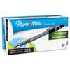 Paper Mate FlexGrip Ultra Recycled Ballpoint Stick Pen, Black Ink, Medium, Dozen