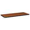 Rectangular Training Table Top Without Grommets, 60w x 24d, Bourbon Cherry