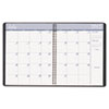 Academic Ruled Monthly Planner, 14-Mo. July-August, 8-1/2 x 11, Black, 2013-2014