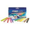 Prang Ambrite Paper Chalk, Assorted Colors, 12 Sticks/Set