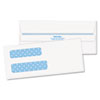 Double Window Tinted Redi-Seal Check Envelope, #8, White, 500/Box