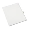 Avery-Style Legal Side Tab Divider, Title: 40, Letter, White, 25/Pack
