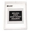 Vinyl Shop Ticket Holder, Both Sides Clear, 9 x 12, 50/BX