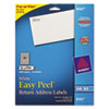 Easy Peel Inkjet Return Address Labels, 1/2 x 1-3/4, WE, 2000/Pack