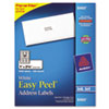 Avery Easy Peel Inkjet Address Labels, 1 x 2-5/8, White, 3000/Box