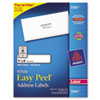 Avery Easy Peel Laser Address Labels, 1 x 4, White, 2000/Box