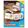 Avery Printable Flash Cards, Notched Cards w/Band, 3 x 5, White, 4 Cards/Sheet, 100/PK