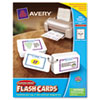 Avery Printable Flash Cards, Hole Punched, 2 1/2 x 4, White, 8 Cards/Sheet, 200/Pack