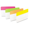 Post-it Tabs Hanging File Tabs, 2 x 1 1/2, Solid, Flat, Assorted Bright, 24/PK