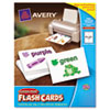 Avery Printable Flash Cards, 4 1/2 x 5 1/2, White, 4 Cards/Sheet, 100/Pack