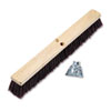 "Floor Brush Head, 3 1/4"" Maroon Stiff Polypropylene, 24"
