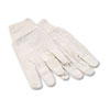 8oz Cotton Canvas Gloves, Large, Dozen