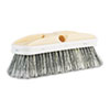 "Polystyrene Vehicle Brush w/Vinyl Bumper, 2 1/2"" Brush, 10"" Handle"