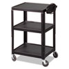 BALT Adjustable Steel Utility Cart, 24w x 18d x 26 to 42h, Black
