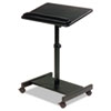 Scamp Speaker Stand, 24w x 18d x 27 to 43h, Black