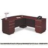 "72""W RH Double Pedestal L-Desk (B/B/F,F/F) Box 1 Milano 2, Harvest Cherry"