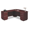 "72""W LH Double Pedestal L-Desk (B/B/F,F/F) Box 2 Milano 2, Harvest Cherry"