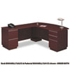 "72""W LH Double Pedestal L-Desk (B/B/F,F/F) Box 1 Milano 2, Harvest Cherry"