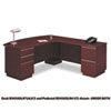 "72""W RH Double Pedestal L-Desk (B/B/F,F/F) Box 2 Milano 2, Harvest Cherry"