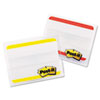 Durable File Tabs, 2 x 1 1/2, Striped, Red/Yellow, 24/pk