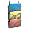 Officemate Filing System w/Hanger Set, 3 Pockets, Letter, 28 x 13 1/2 x 4 3/4, Charcoal