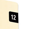 Year 2012 End Tab Folder Labels, 1/2 x 1, Pink/White, 250 Labels/Pack