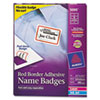 Flexible Self-Adhesive Laser/Inkjet Name Badge Labels, 2-1/3 x 3-3/8, RD, 400/Bx