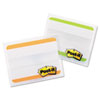 Post-it Tabs File Tabs, 2 x 1 1/2, Striped, Green/Orange, 24/Pack