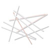 "Coffee Stir Sticks, 5 1/4"", Plastic, White/Red, 8000/Carton"