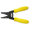"Wire Stripper/Cutter, 10-18 AWG, 6 1/4"" Tool Length, Yellow Handle"