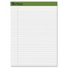 Earthwise Ampad Recycled Paper Pad, Legal/Wide Rule, Letter, White, 40-Sheet Pads 4/Pack