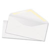 White Wove Business Envelope Convenience Packs, V-Flap, #10, Recycled, 100/Box