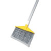 "Rubbermaid Commercial Angled Large Brooms, Poly Bristles, 48 7/8"" Aluminum Handle, Silver/Gray"