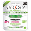 Recharge Plus NiMH Batteries, C, 2 per Pack