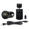 Kensington USB Car and Wall Charger, One 1.0 Amp Port, Detachable Mini USB Cable