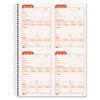 Service Call Book, 4 x 5 1/2, Two-Part Carbonless, 200 Sets/Book