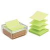 Glass & Cork Pop-Up Note Dispenser, Clear, with 50-Sheet Greener Note Pad