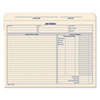 Jacket Style Job Folders, Straight, Index Top Tab, Letter, Manila, 20/Pack