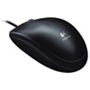 Logitech B100 Optical USB Mouse, Black