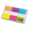 Post-it Flags Flags in Portable Dispenser, Alternating Electric Glow Colors, 60 Flags per Pack