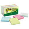 Post-it Greener Notes Recycled Note Pad Value Pack, 3 x 3, Sunwashed Pier, 18 Pads per Pack