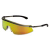 Triwear Metal Protective Eyewear, Platinum Frame, Fire Lens