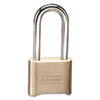 Resettable Combination Padlock, Brass, 2&quot;, Brass Color