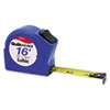 Quikread Tape Measure, 3/4&quot; x 16', Plastic Case, Blue, 1/16&quot; Graduation