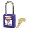 No. 410 Lightweight Xenoy Safety Lockout Padlock, 6 Pin, Blue