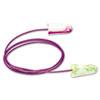 Moldex SparkPlugs Single-Use Earplugs, Corded, 33NRR, Asst. Colors, 100 Pairs