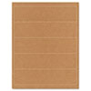 Guided Brown Kraft Printer Labels, 2 x 8, Permanent Adhesive, 125/Pack