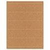 Guided Brown Kraft Printer Labels, 2 x 8, Permanent Adhesive, 125/Pack